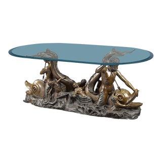 Nautical Bronze Sculptural Table