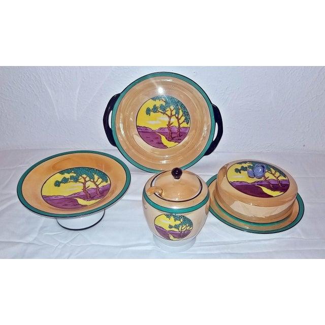 Vintage Noritake Deco 4 Piece Set For Sale - Image 13 of 13