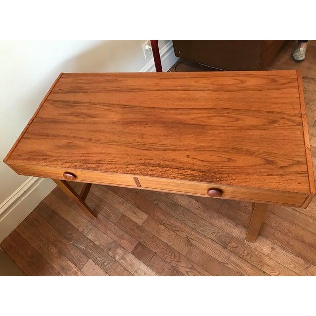 Two Drawer Danish Teak Desk - Image 3 of 5
