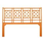 Lattice Back Headboard King - Orange