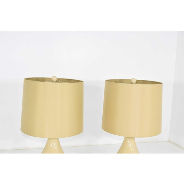 Ceramic Lamps - A Pair For Sale In Dallas - Image 6 of 7