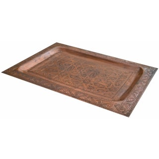 Handmade Moorish-Patterned Copper Tray Preview