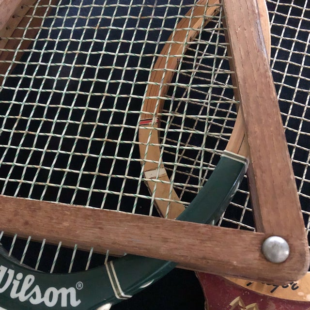 Traditional Collection of Antique Tennis Rackets - Set of 4 For Sale - Image 3 of 9