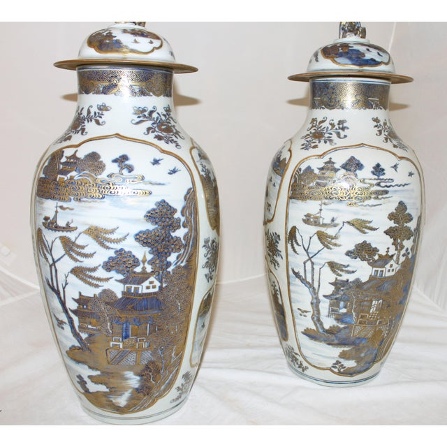 White 18th Century Chinese Qing Dynasty Covered Jars - a Pair For Sale - Image 8 of 9