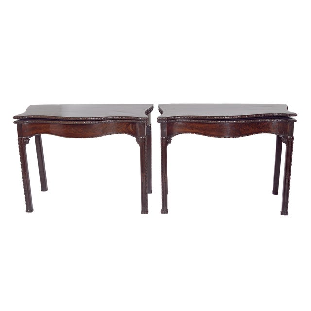 Pair of 18th Century George III Mahogany Card Tables For Sale