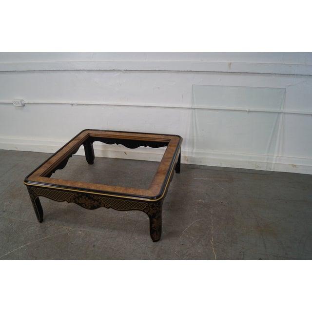 Drexel Heritage Square Burl Wood Coffee Table Chairish