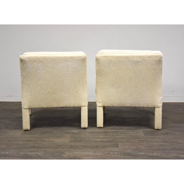1970s Milo Baughman for Thayer Coggin Parsons Chairs- a Pair For Sale - Image 5 of 10