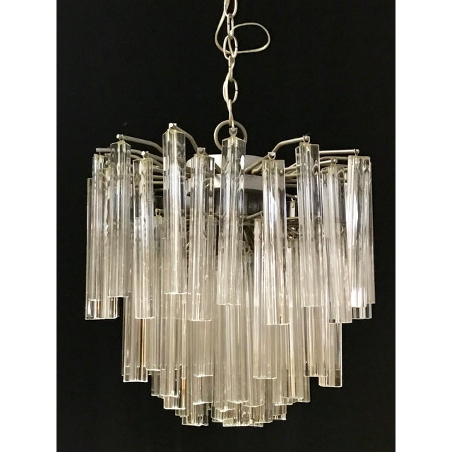Venini Crystal Chandeliers - A Pair For Sale - Image 4 of 11