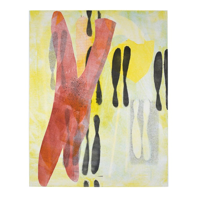Untitled Monotype Print by Joan Ffolliott For Sale