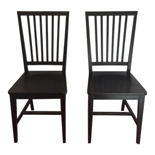 Crate & Barrel Village Bruno Chairs - A Pair