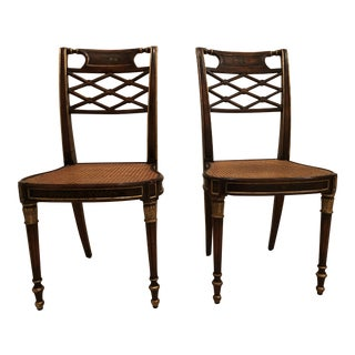 21st Century Traditional Dining Chairs- A Pair For Sale