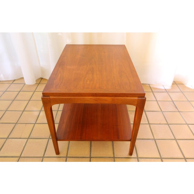 Lane Rhythm Mid-Century Walnut Side Table For Sale - Image 9 of 10