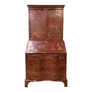 English Japanned Decorated Secretary Desk For Sale