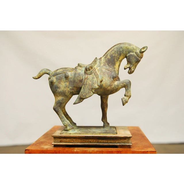 Chinese Tang Style Cast Iron Horse Sculpture - Image 2 of 7