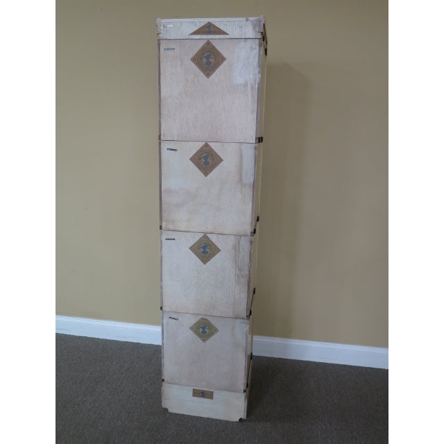 Transitional Globe Wernicke 4 Section White Stacking Narrow Bookcase For Sale - Image 10 of 13