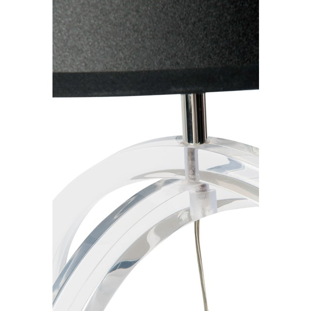 Lucite Loop Table Lamp - Image 4 of 5