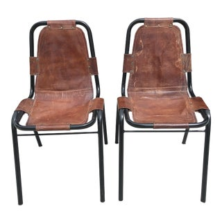 Charlotte Perriand for Les Arcs Chairs - a Pair