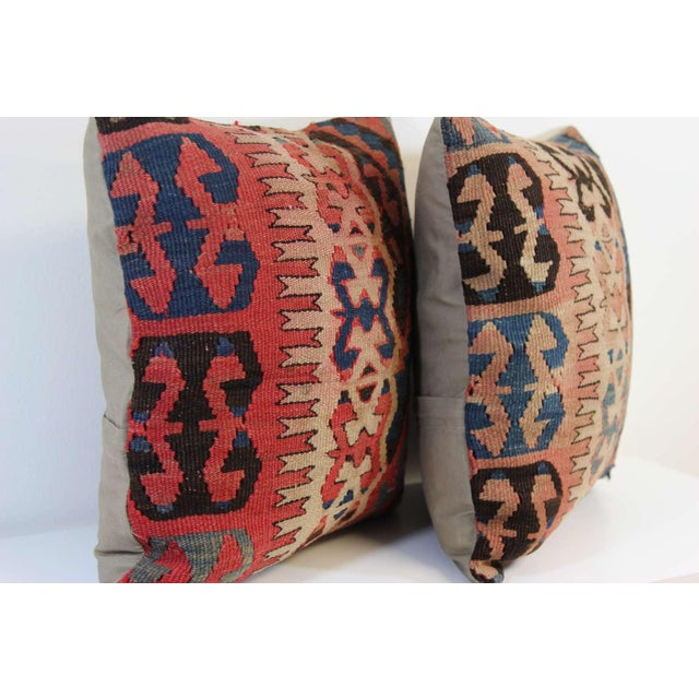 Turkish Vintage Pillow Covers - Pair - Image 5 of 6