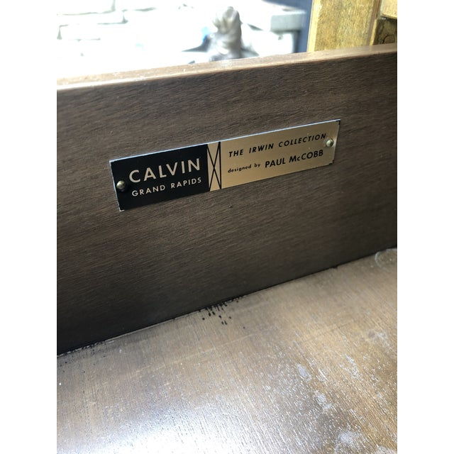 Beautiful chest of 4 drawers designed by Paul McCobb for Calvin's Irwin line. It's in great vintage shape everywhere with...
