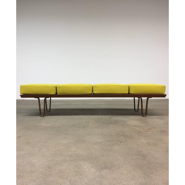 Yellow Edward Wormley for Dunbar Long John Bench or Coffee Table For Sale - Image 8 of 8