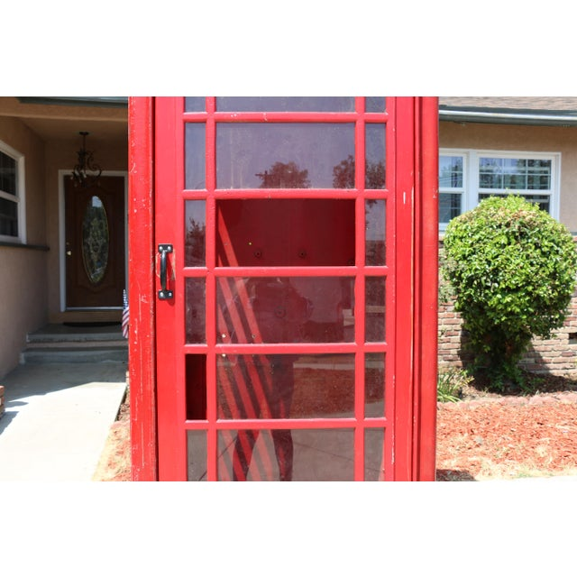 Metal Vintage London Lifesize Telephone Booth For Sale - Image 10 of 13