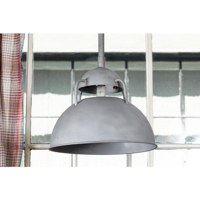 Industrial Vintage Industrial Pendant Lamps - a Pair For Sale - Image 3 of 6