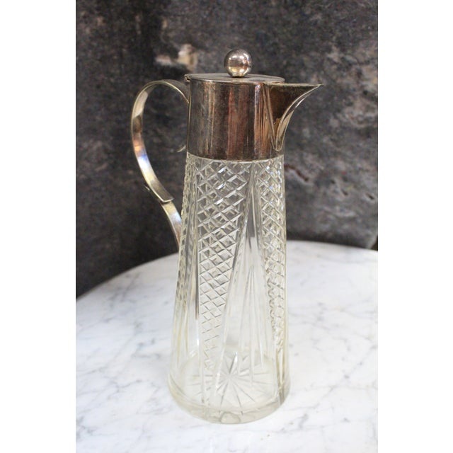 1940s 1940s Crystal & Silver Pitcher For Sale - Image 5 of 7