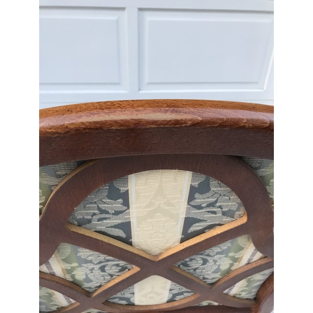 Late 20th Century Late 20th Century Vintage Lattice Back Thomasville Chair For Sale - Image 5 of 9