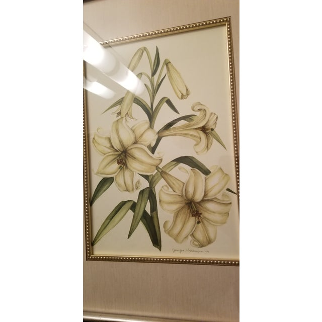 Mirror With Framed Botanical Print For Sale - Image 4 of 11
