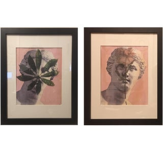 Brooks Burns Original Abstract Ink and Acrylic Monotype Prints - A Pair For Sale