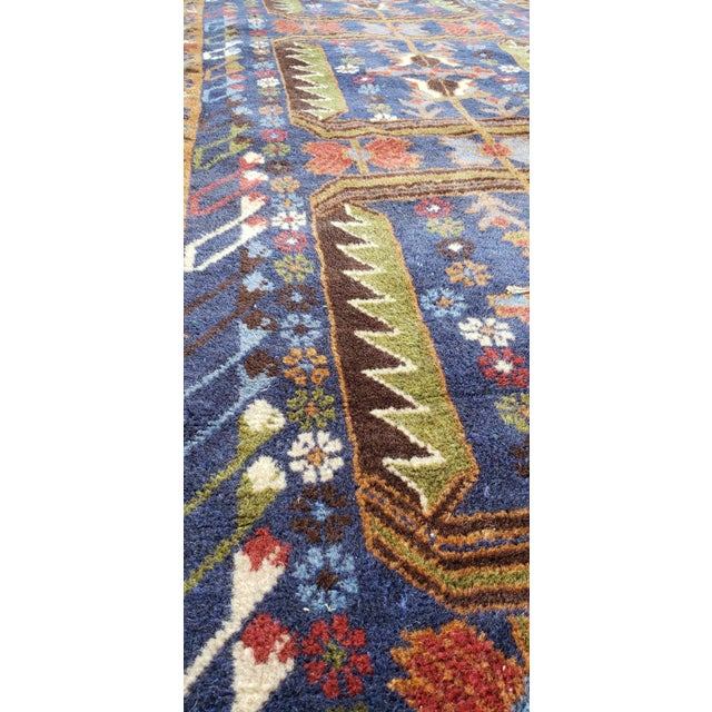 "Afghan Geometric Multi-Color Runner-3'x9'6"" For Sale - Image 4 of 7"