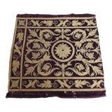 Image of Antique Italian Gold and Burgundy Silk on Silk Velvet Applique Textile Panel For Sale