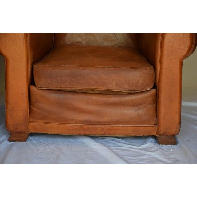 1930s Leather Moustache Leather Club Chairs - a Pair For Sale - Image 4 of 13