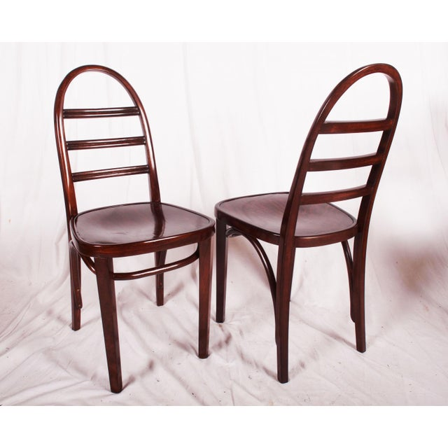Brown Art Deco beechwood chair by Thonet, 1919 For Sale - Image 8 of 9