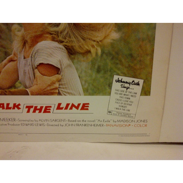 "Vintage Movie Poster - ""I Walk the Line"" - Gregory Peck & Tuesday Weld - 1970 For Sale - Image 4 of 6"