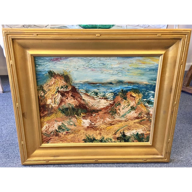 "Impressionist 1963 Vintage Original ""Fire Island"" Painting For Sale - Image 3 of 9"