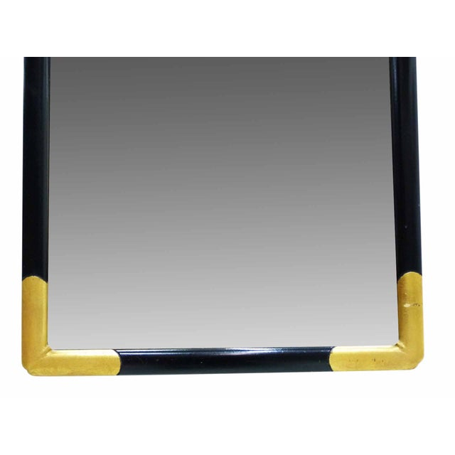 Milch Milch & Son Vintage Black & Gilt Mirror For Sale - Image 4 of 9
