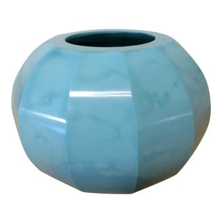 Robert Turquoise Kuo Hand Blown Peking Glass Jarlet Vase, Signed For Sale