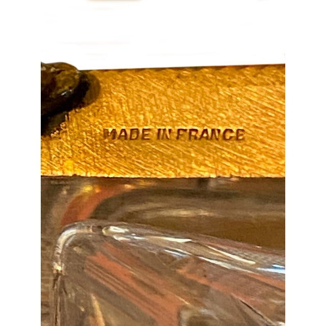 Glass Antique Baccarat Crystal Box For Sale - Image 7 of 8