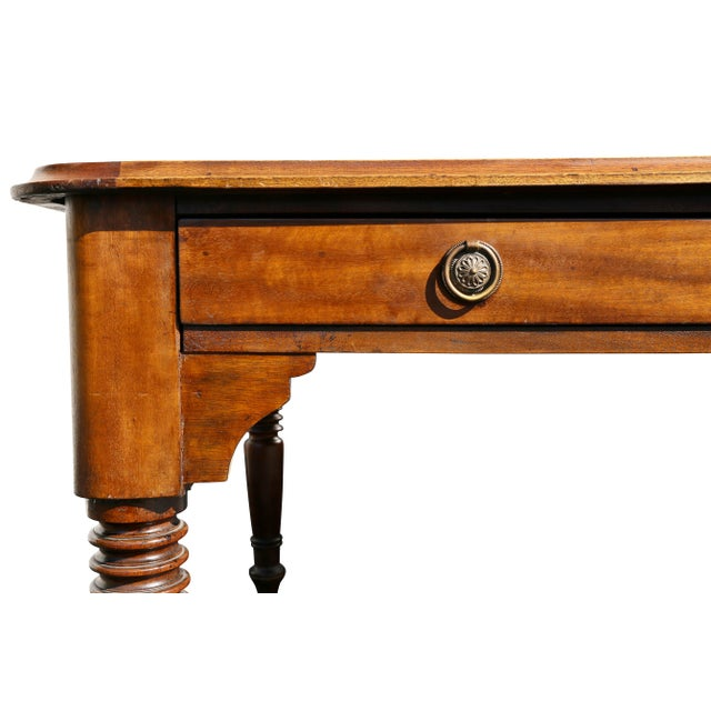 Large Victorian Mahogany Writing Table For Sale In Boston - Image 6 of 13