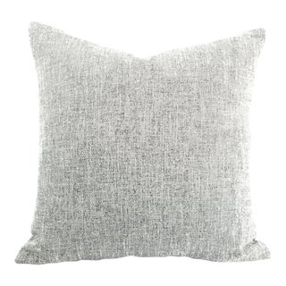 """Stroheim Amatola in the Color Salt White and Black Woven Pillow Cover - 20"""" X 20"""" For Sale"""