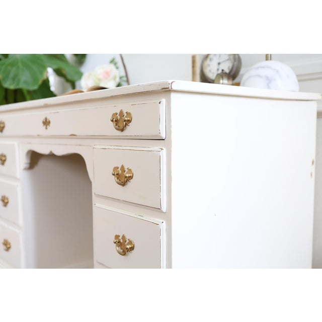 Shabby Chic Vintage Whitney Solid Wood Desk - Image 11 of 11
