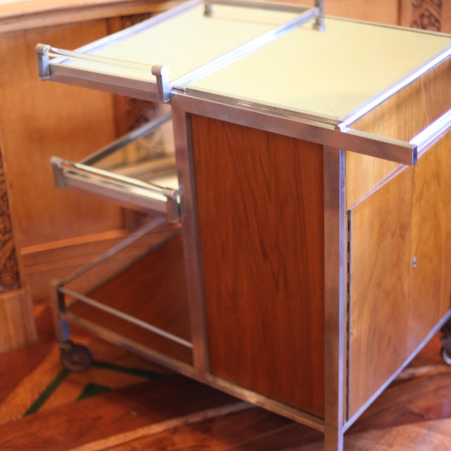 Dry Bar Service Cart by Jacques Adnet For Sale - Image 9 of 10