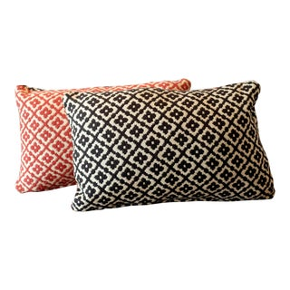 Duralee Quilted Double-Sided Lumbar Pillow Covers - a Pair For Sale