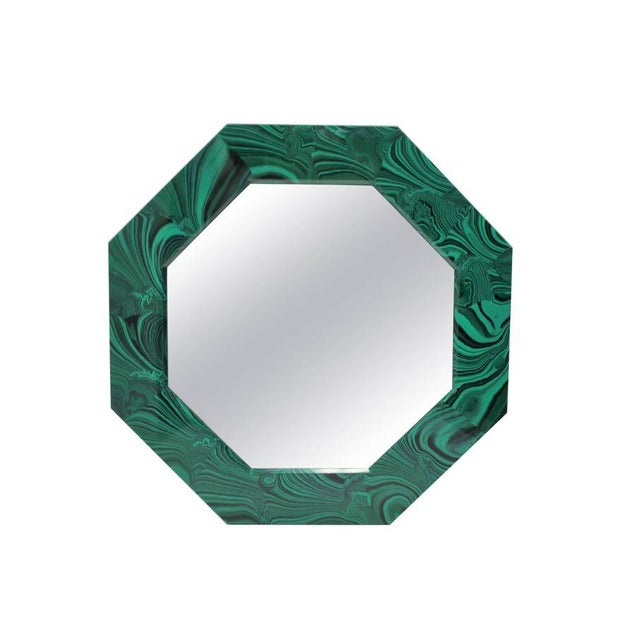 Green Malachite Octagonol Wall Mirror For Sale - Image 13 of 13