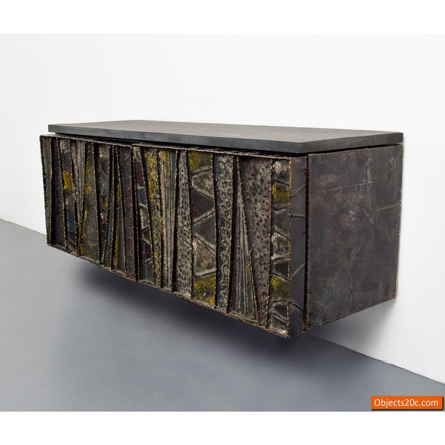 Directional Paul Evans for Directional Deep Relief Wall Cabinet For Sale - Image 4 of 12