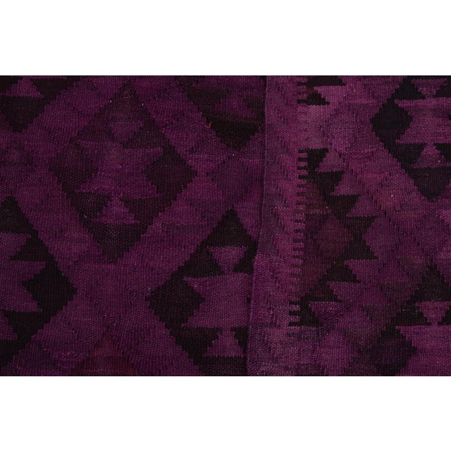 Textile Boho Chic Carlos Hand-Woven Kilim Wool Rug - 5'7 X 7'7 For Sale - Image 7 of 8