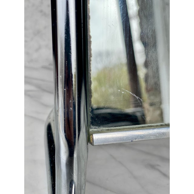 Vintage Medical Doctor's Chrome Floor Table Mirror For Sale - Image 9 of 10
