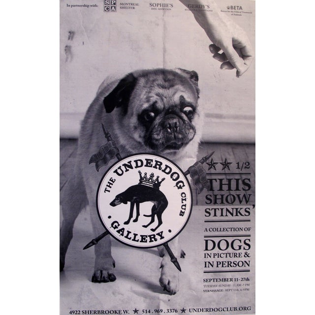 Contemporary Large Underdog Rescue Poster, Stinks For Sale - Image 3 of 3