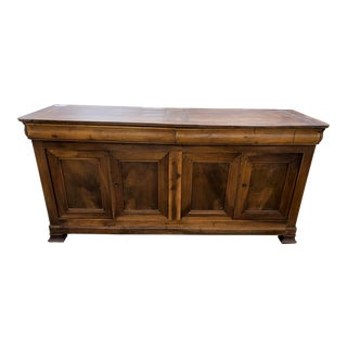 Early 19th Century Period French Louis Philippe Walnut Enfilade For Sale